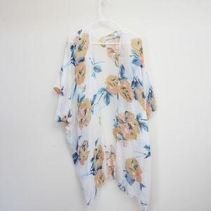 Floral Open Front Swim Cover